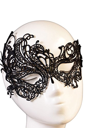 Chase Secret Women's Halloween Masquerade Party Gothic Lace Mask