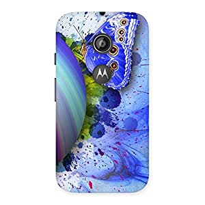 Special Premier Blue Shell Butterfly Multicolor Back Case Cover for Moto E 2nd Gen