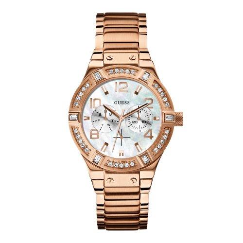 Guess  W0290L2 - Reloj de cuarzo para mujer, con correa de acero inoxidable, color rosa