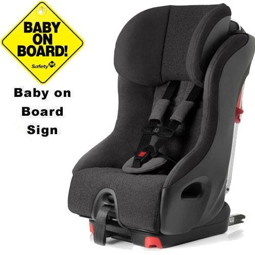 Clek Foonf Convertible Seat W Baby On Board Sign - Shadow front-627250