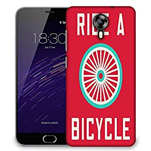 Snoogg ride a bicycle poster large 2849 Designer Protective Back Case Cover For Meizu M2