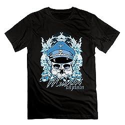 Captain And Skulls Men's Short-sleeve T Shirt