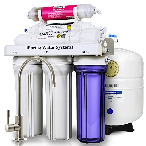 iSpring RCC7AK 6-Stage Residential Under-Sink Reverse Osmosis Water Filter System w/ Alkaline Remineralization - WQA Gold Seal Certified, 75 GPD (Reverse Osmosis Water Filtration compare prices)