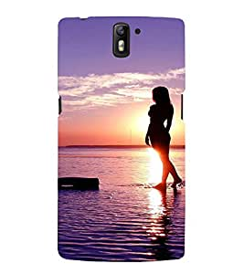 EPICCASE Walk on the beach Mobile Back Case Cover For OnePlus One (Designer Case)