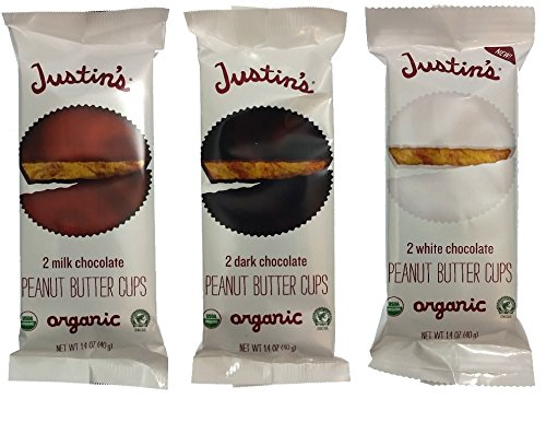 Justin's Organic Peanut Butter Cups - Gluten Free - Variety Pack - 12-pack