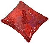 Shahenaz Home Shop Luxe Glamour Poly Dupion Cushion Cover - Red