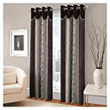 FASHIONFAB 2 Piece Polyester Long Door Curtain - 9ft, Brown