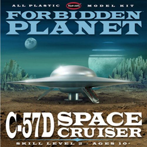 Polar Lights Forbidden Planet C-57D Starcruiser 1/144 Scale Plastic Model Building Kit (Polar Lights Model compare prices)