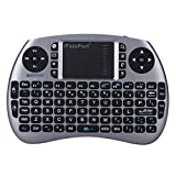 iPazzPort Wireless Mini Keyboard and Touchpad Mouse Combo for Raspberry Pi 3 / XBMC / Android and Google Smart TV Box KP-810-21S (Space Grey)