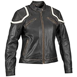 River Road Womens Vintage Babe Black Leather Jacket - X-Large