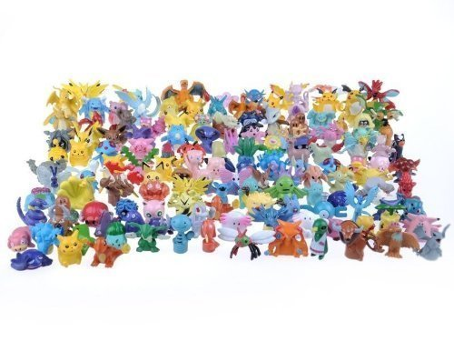 48 personnages différents Pokemon dans l'ensemble FIGURES CARTON 1-3 cm - pas un jouet - parfait pour les bas de Noël pour remplir Mini Monster Pokemon Pikachu GO Anime Manga Comic thematys®
