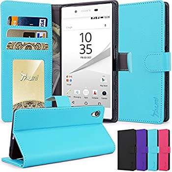 10. Tauri [Stand Feature] Premuim Protective Wallet Leather Case with Stand, ID & Credit Card Pockets Flip Cover For Sony Xperia Z5