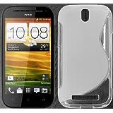 tomaxx S TPU Transparent HTC One SV Silikon Case Tasche Hülle Etui Schutzhülle S-Line Transparent