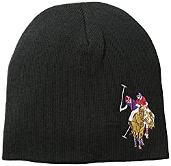 U.S. Polo Assn. Men's Solid Beanie, Black, One Size