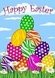 Custom Decor Easter Welcome Flag Zebra Eggs