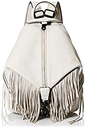 Rebecca Minkoff Fringe Julian Backpack Handbag, Putty, One Size