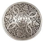 """Persian Shield Button; Antique Silver Finish. 3/4"""" (19mm)"""