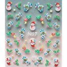 GGSELL YIMEI 2012 Merry christmas holiday Snowman candy heart nail decals stickers