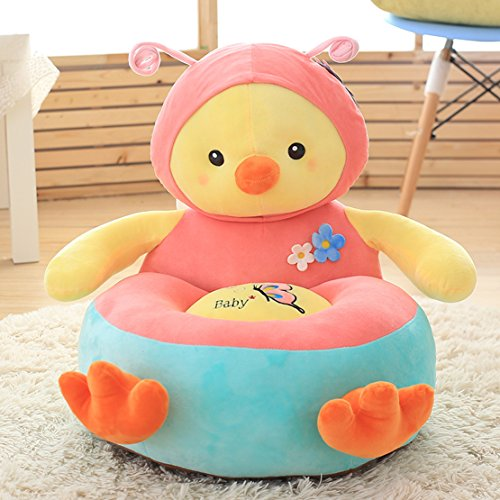 MAXYOYO Cartoon Stuffed Plush Toy Bean Bag Chair Seat for Children,Cute Animal Plush Soft Sofa Seat,Cartoon Tatami Chairs,Birthday Gifts for Boys and Girls (chick)