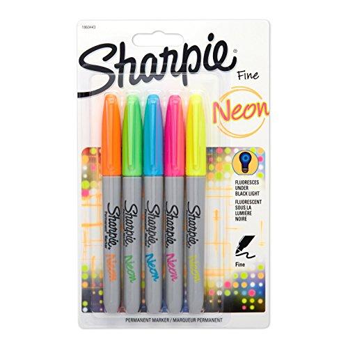 sanford-encre-sharpie-fluo-pointe-fine-markers-orange-vert-bleu-rose-et-jaune