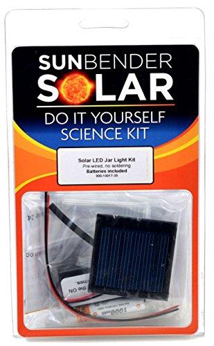 Sunbender Do-It-Yourself Solar Led Jar Light Kit - Blue Led'S Pre-Wired