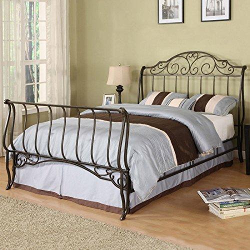 Weston Home Fullerton Metal Sleigh Bed