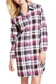 Pure Cotton Checked Nightshirt [T37-9113-S]