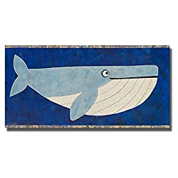 Wendell the Whale by Casey Craig Premium Gallery-Wrapped Canvas Giclee Art (Ready-to-Hang)