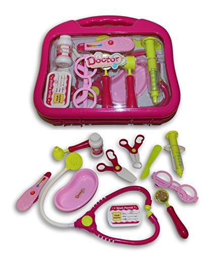 Pink-Kids-Doctors-Bag-Nurse-Medical-Kit-Playset-for-Kids-Pretend-Play