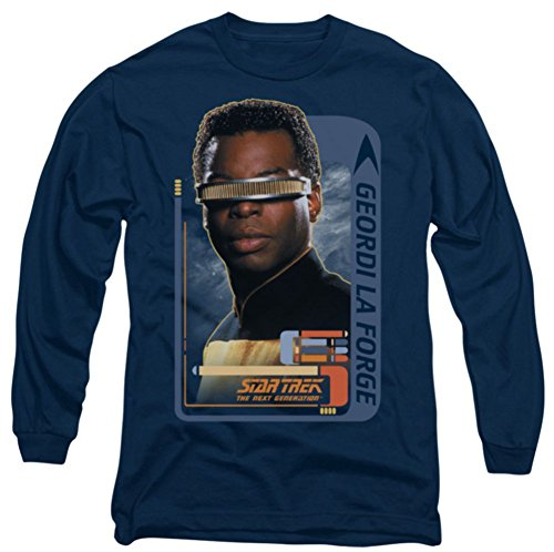 Long Sleeve: Star Trek The Next Generation Geordi Laforge Shirt CBS581LS