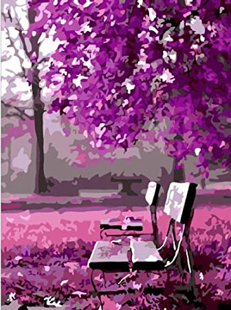 Diy oil painting, paint by number kit- Wait for romance 16*20 inch.