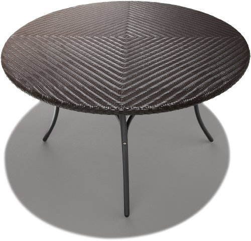 Strathwood Padre All-Weather Wicker 48-Inch Round Dining Table