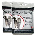 Silversand klumpendes Katzenstreu Bab...