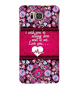 Love You Quote 3D Hard Polycarbonate Designer Back Case Cover for Samsung Galaxy Alpha G850
