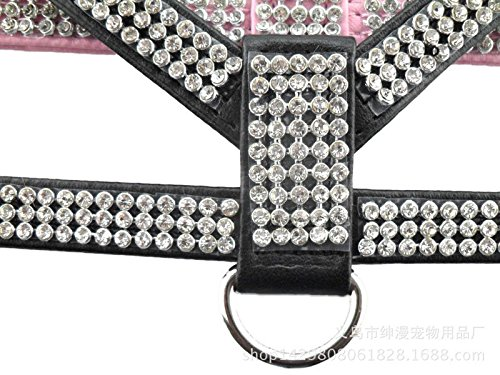 Generic-Bling-Rolls-of-Rhinestone-PU-Leather-Pet-Puppy-Small-Dog-Collar-Harness-Chihuahua-Teacup-Care-XS-Medium-Large-for-Girls-Boys