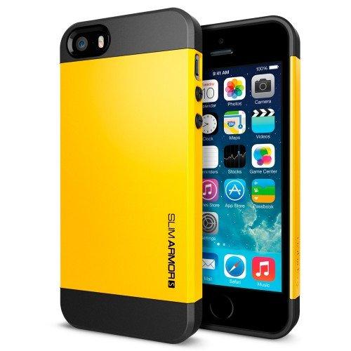国内正規品SPIGEN SGP iPhone5/5S ケース スリムアーマーS [レベントンイエロー] SGP10368