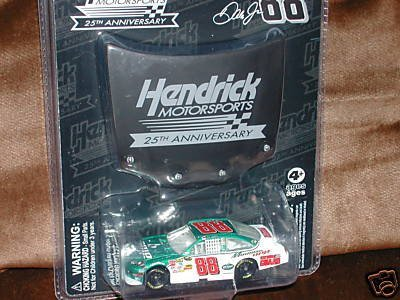 2009 Dale Earnhardt Jr #88 AMP Energy Mountain Dew Chevy Impala SS 1/64 Scale & 1/24 Scale Black Hendrick Motorsports 25th Anniversary Magnet Hood Winners Circle