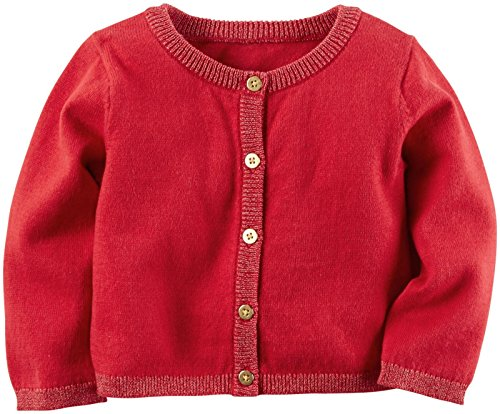 Carter's Baby Girls Cardigans, Red, 9M