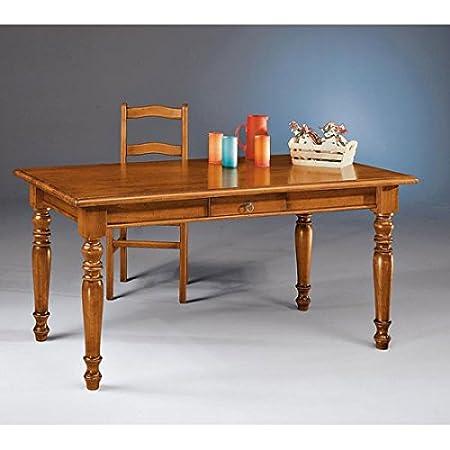 estea meubles-Table fixe bois massif 160cm, différents coloris-986à