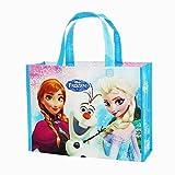 """Disney Frozen Reusable Lesson Bag For Kids Blue. H 9.6"""" X L 13""""x W 4"""""""