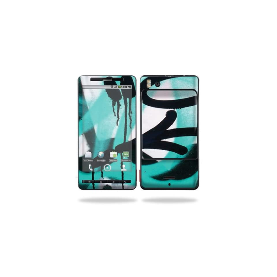 Protective Vinyl Skin Decal Cover for Motorola Droid X (MB 810) or X2 (MB 870) Cell Phone Sticker Skins  Graffiti Tagz