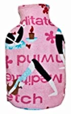 Warm Tradition Yoga Fleece Covered Hot Water Bottle- Bottle Made in Germany, Cover made in USA