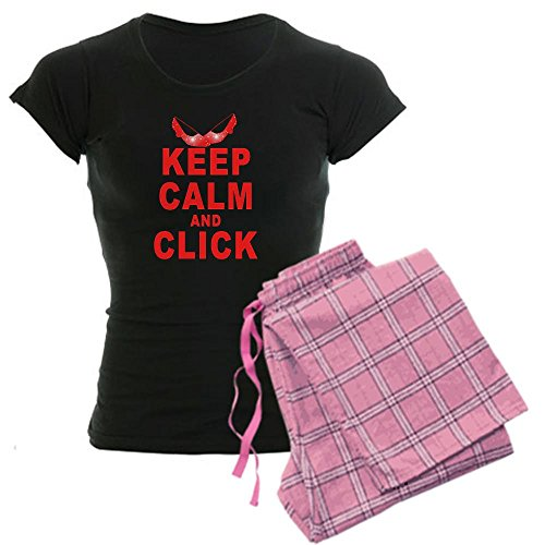 CafePress Keep Calm and Click Ruby Slippers Women's Dark Paj Women's Dark