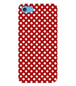 Fuson Premium Small White Circles Printed Hard Plastic Back Case Cover for Apple iPod Touch 6