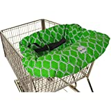 Itzy Ritzy Sitzy Shopping Cart and High Chair Cover, Emerald Trellis