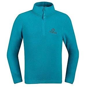 Tectop - Sweater-shirt enfants Polaire Veste manches longues Unisexe Hiver - 7-8ans - Bleu clair