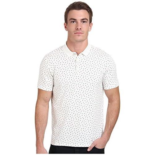 [ベンシャーマン] Ben Sherman メンズ Short Sleeve Geo Print Polo MC11453 トップス Off White SM [並行輸入品]