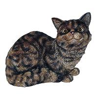 Michael Carr Crouching Cat Tiger Gray 80001TG