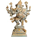 Aone India Large Size Ashtabhuja-dhari Yuddha Ganesha (Ganesha The Spiritual Warrior) + Cash Envelope (Pack Of...