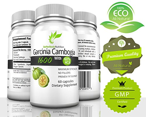 ★Sale Today★ Incredibly Pure Garcinia Cambogia Extract ★ Dual Action Fat Burning Appetite Suppressant ★ Dr. Recommended Take With 8 Oz Of Water 100% All Natural Healthy Weight Loss That Works ★ *Bonus* Added Potassium & Calcium For Accelerated Absorption